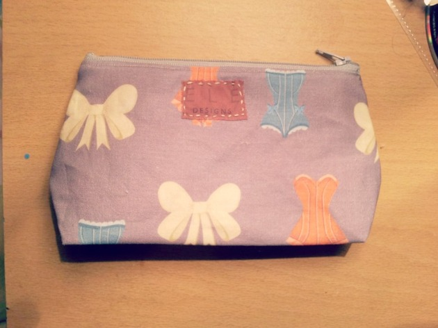 First ELE make up bag in corset print!